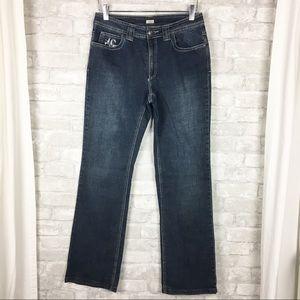 Reba Western Bootcut Embellished Denim Jeans